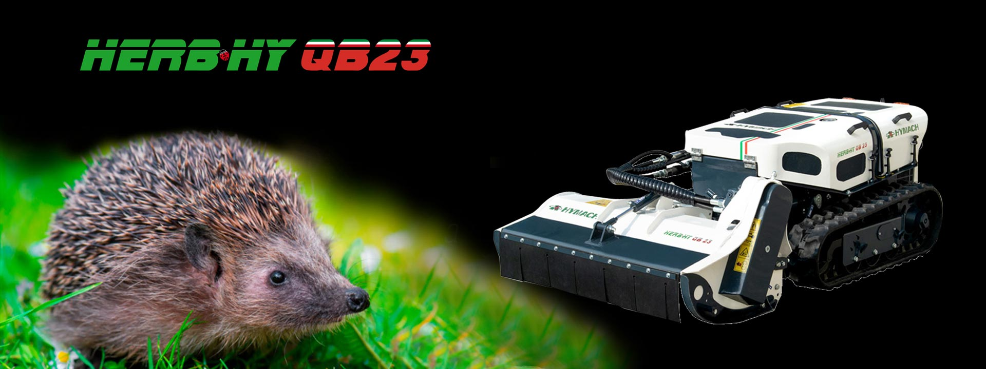 Professional remote-controlled brushcutter Herbhy QB23
