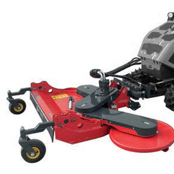 Lawnmower with retractable side plate