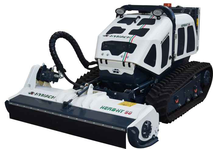 Radio-controlled tool carrier robot Herbhy 50