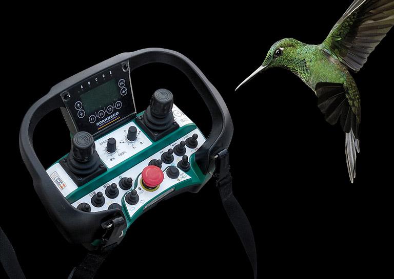 Système de contrôle de débroussailleuse professionnelle radiocommandé Herbhy